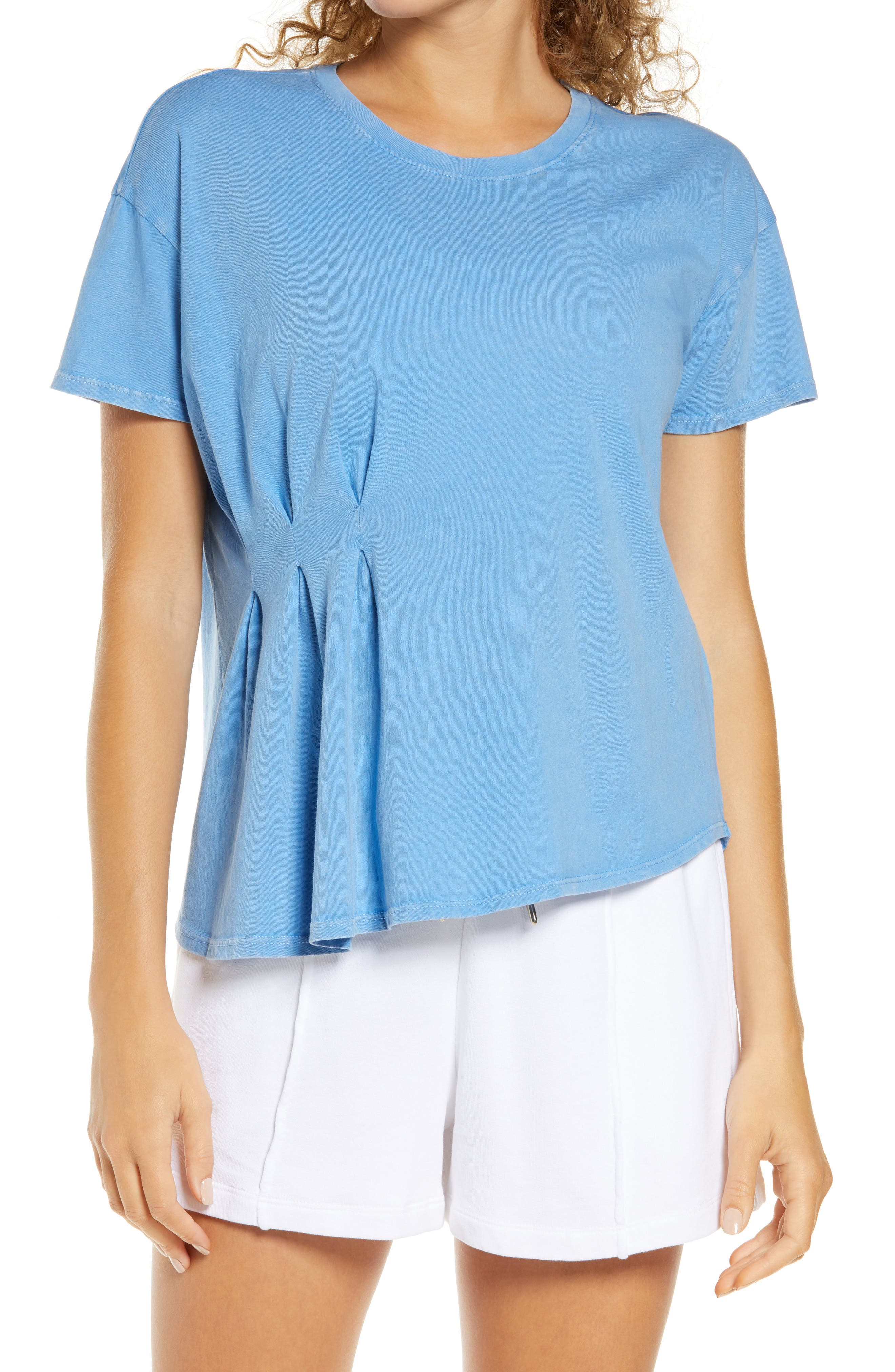 Image of Zella Washed Pleated T-Shirt