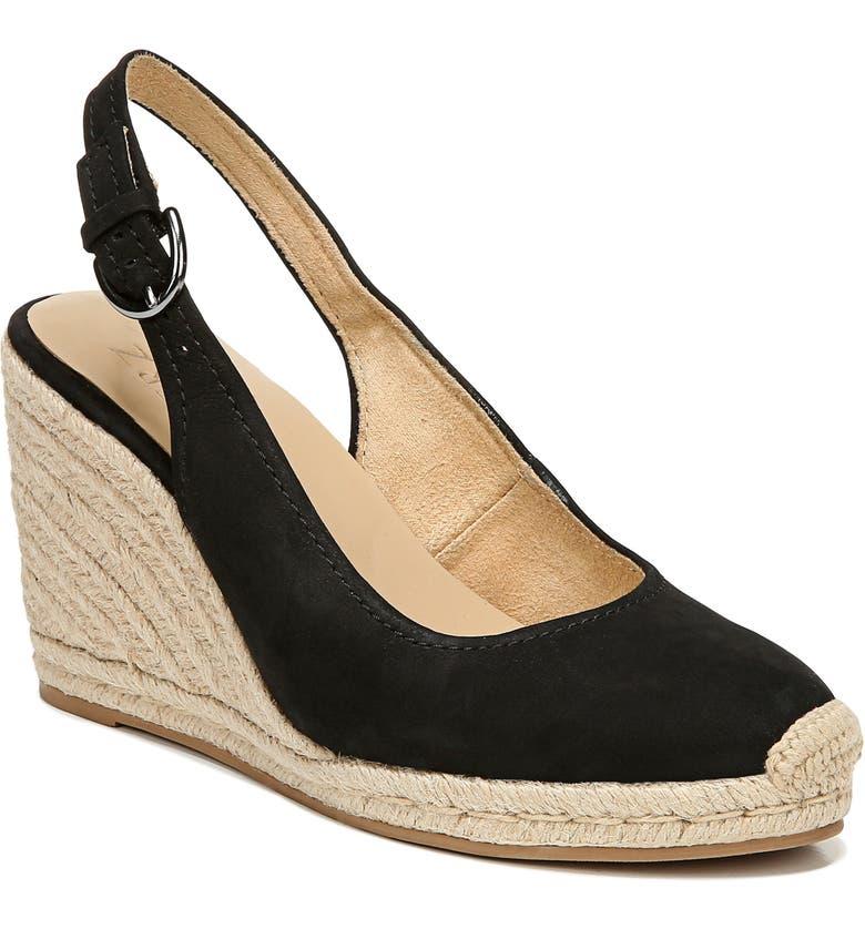 NATURALIZER Pearl Espadrille Wedge Sandal, Main, color, 001