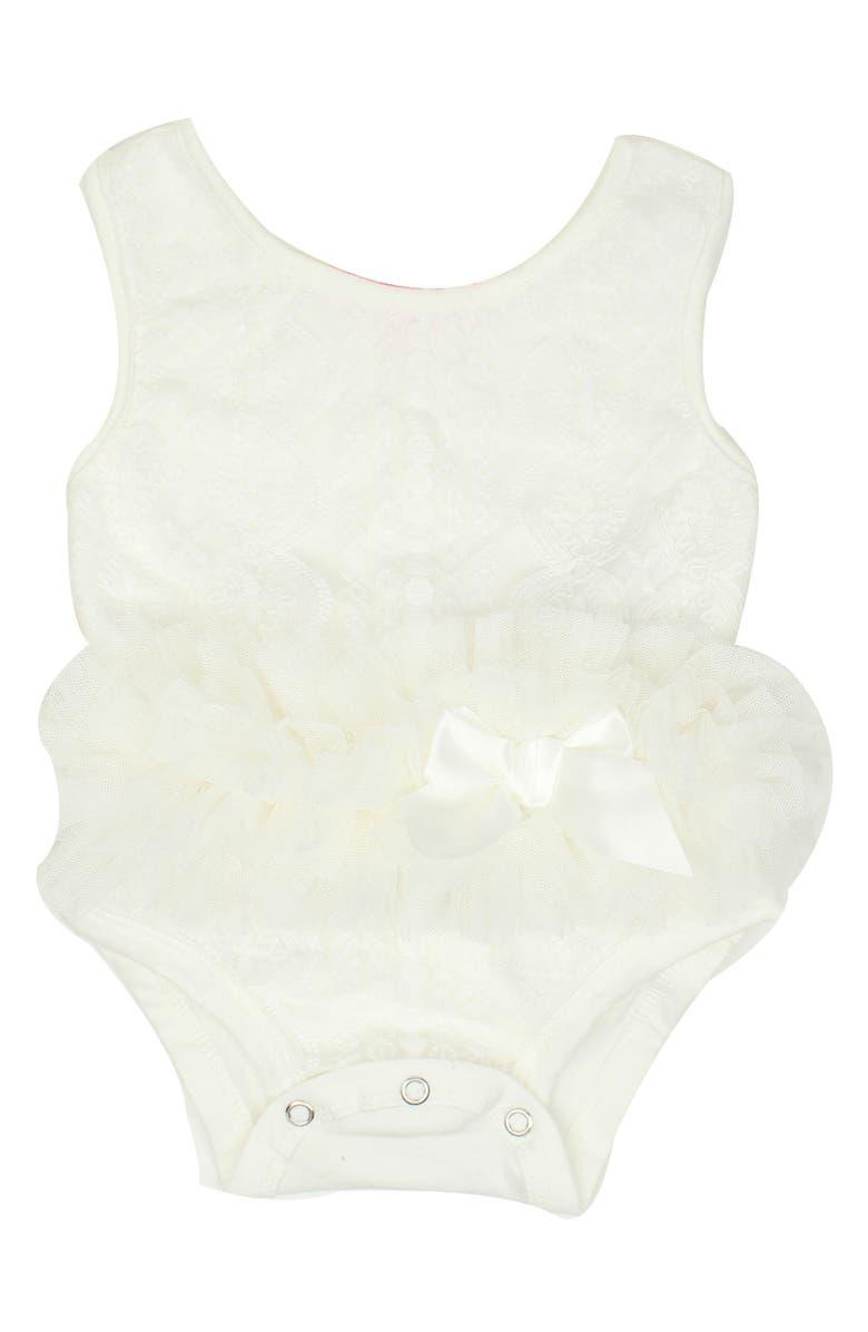 POPATU Tutu Bodysuit, Main, color, WHITE