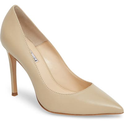 Charles David Calessi Pointy Toe Pump, Beige