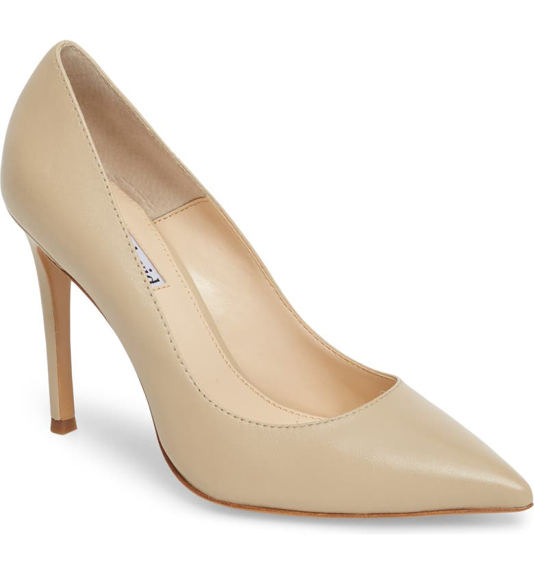 CHARLES DAVID Calessi Pointy Toe Pump, Main, color, NUDE LEATHER