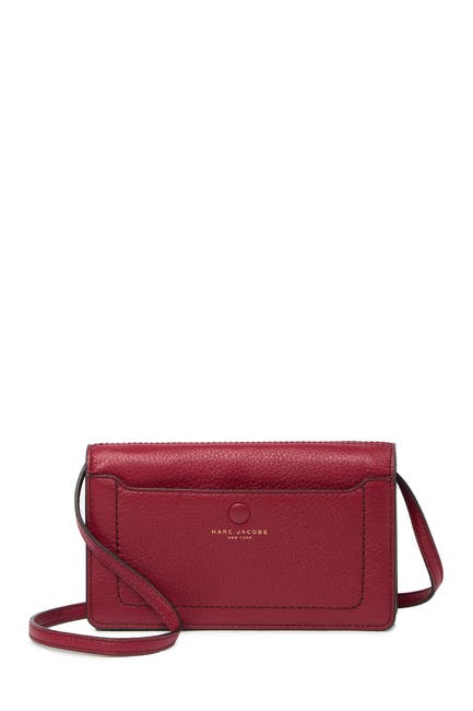 Image of Marc Jacobs Empire City Strap Leather Wallet
