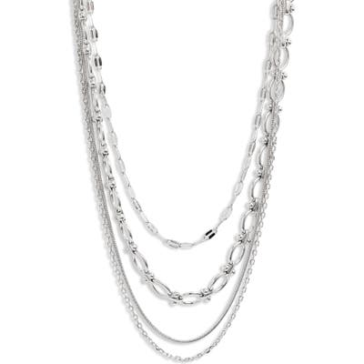Halogen Layered Luxe Multistrand Chain Necklace