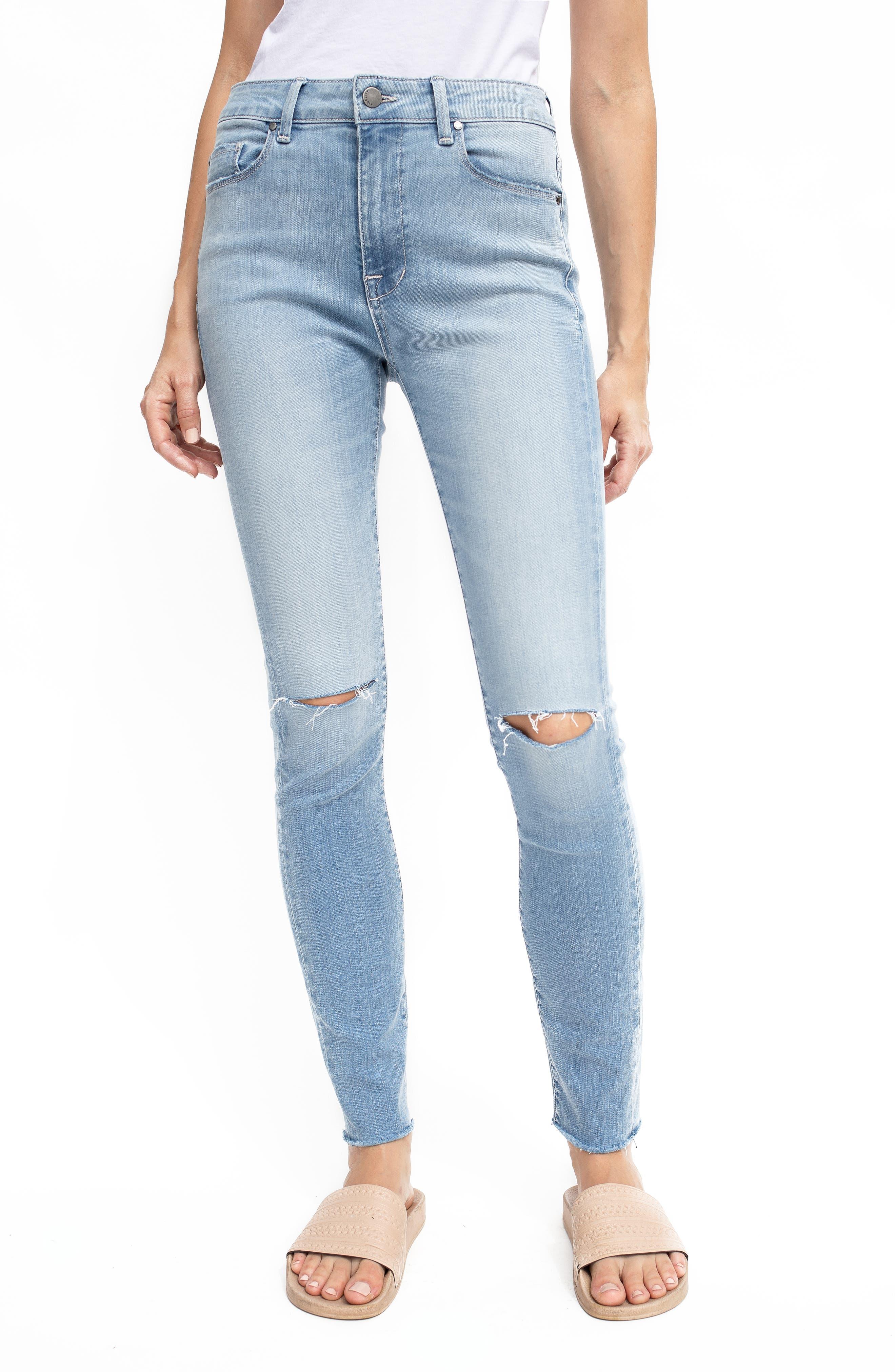 Women's Fidelity Gwen High Waist Ripped Skinny Jeans