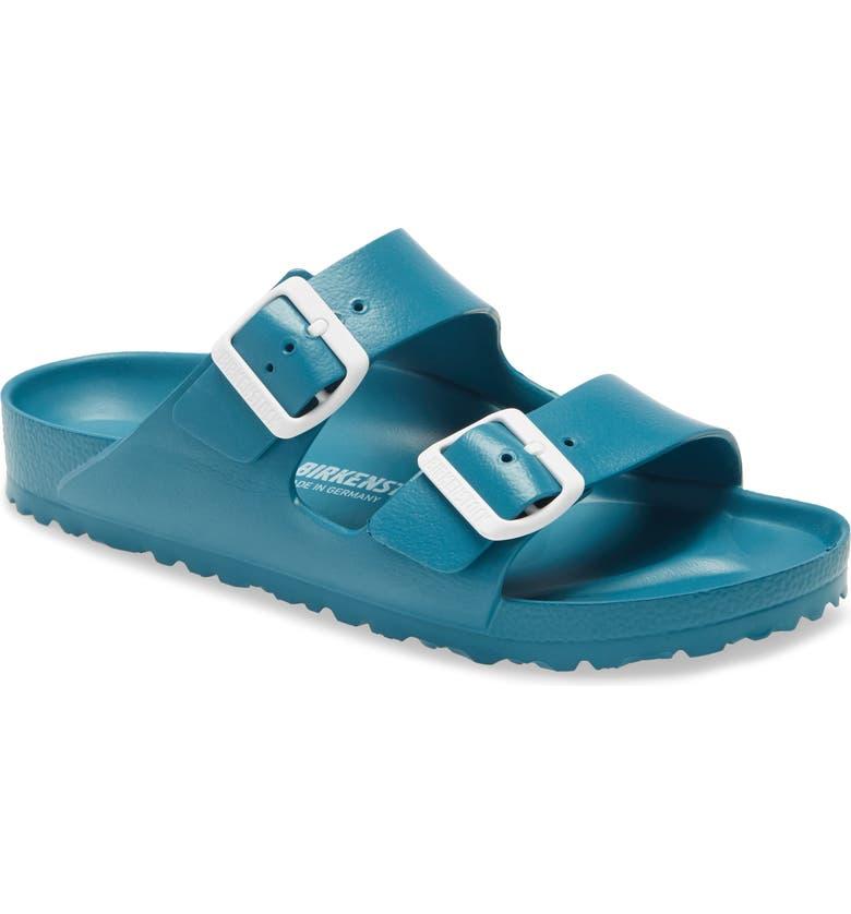 BIRKENSTOCK Essentials - Arizona Slide Sandal, Main, color, TURQUOISE