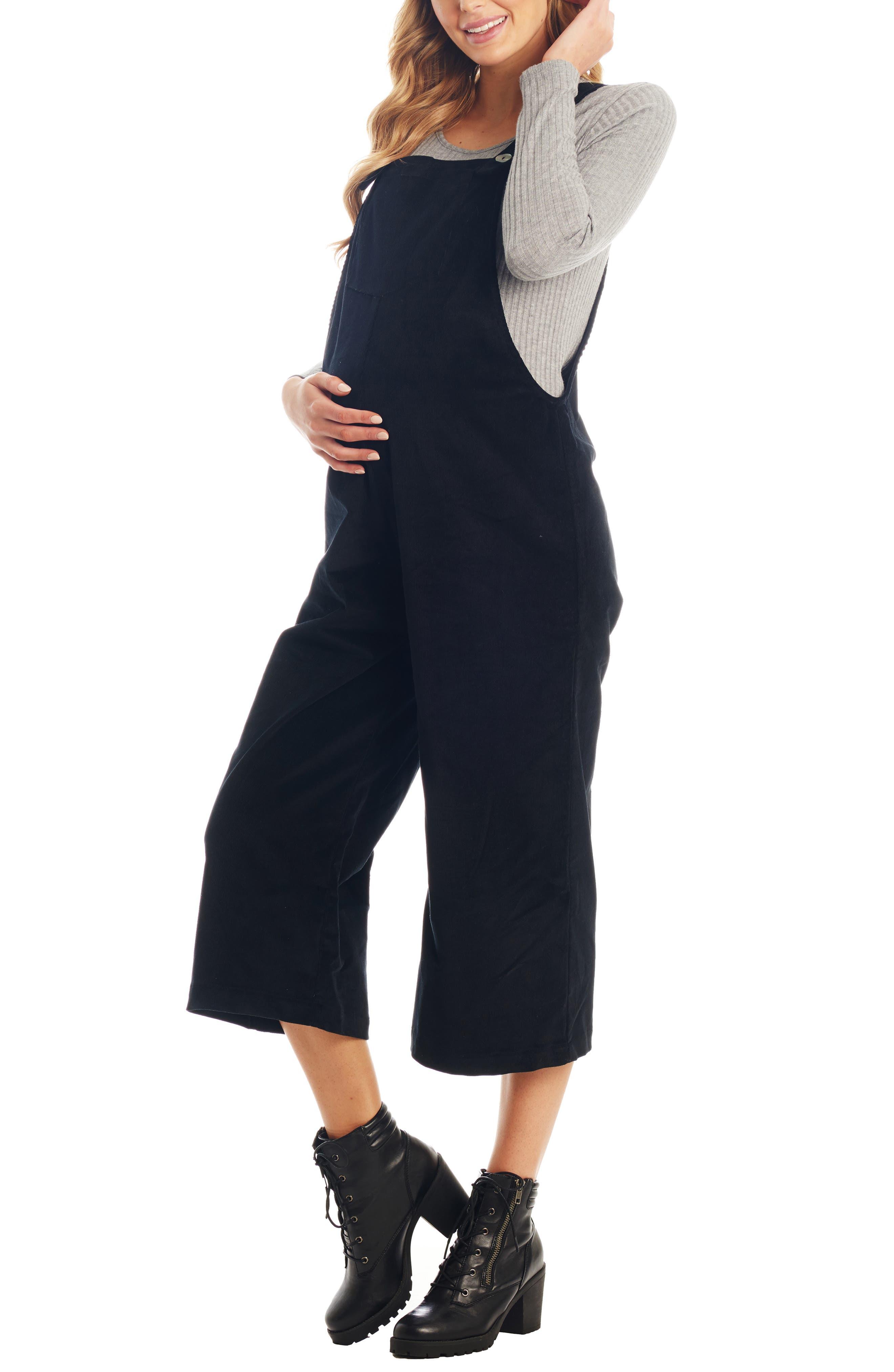 Women's Everly Grey Carlita Maternity/nursing Crop Overalls