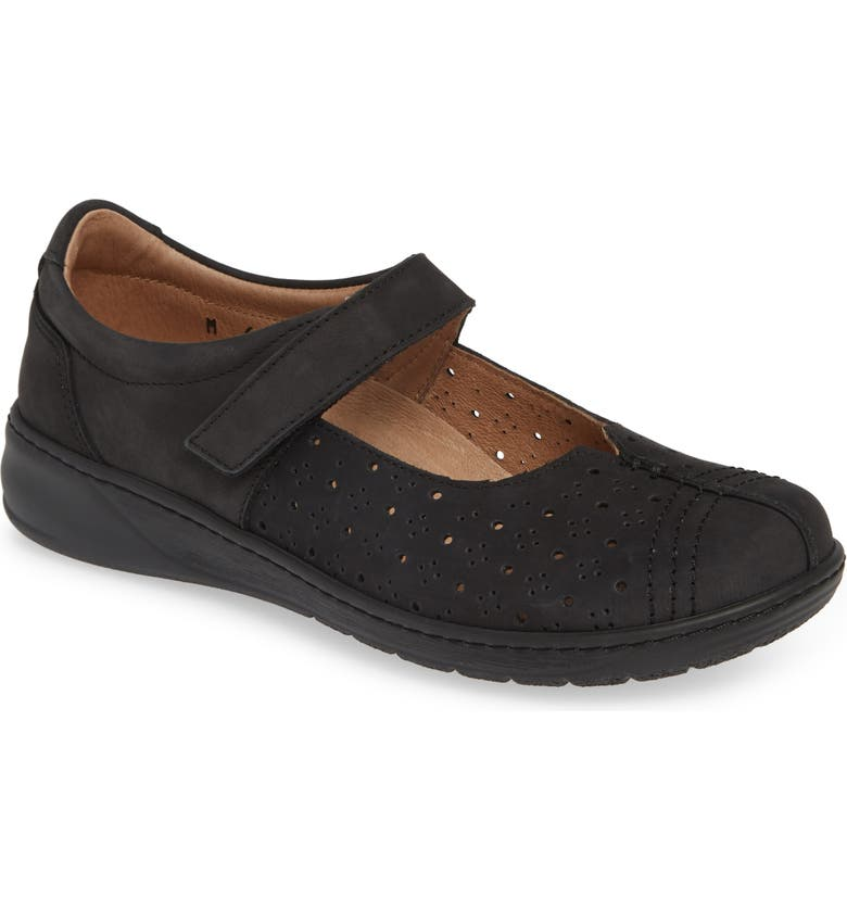 DAVID TATE Bergamo Perforated Mary Jane Flat, Main, color, 001