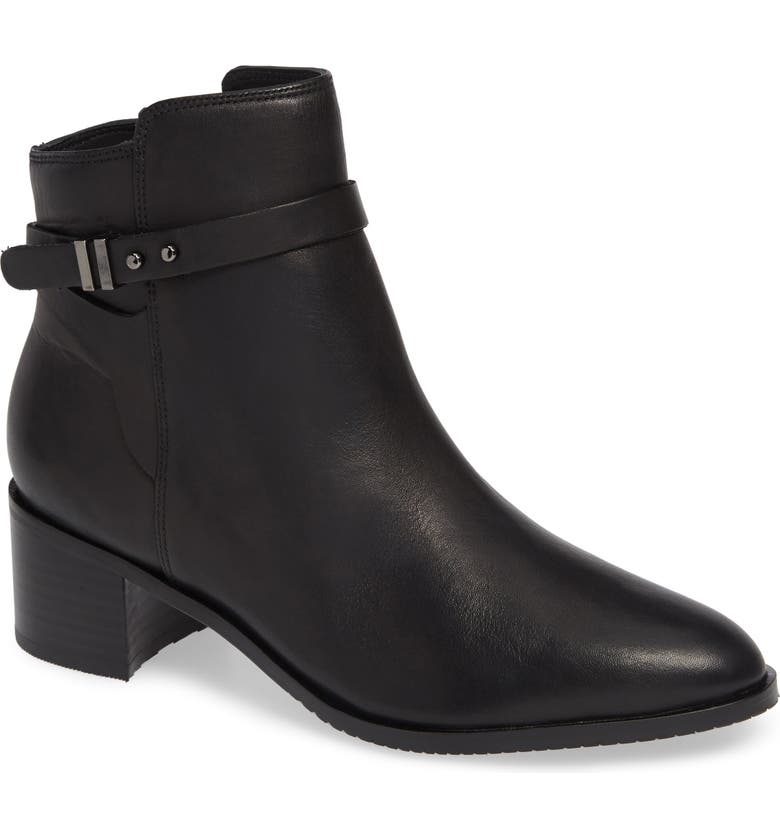CLARKS<SUP>®</SUP> Poise Freya Bootie, Main, color, BLACK LEATHER