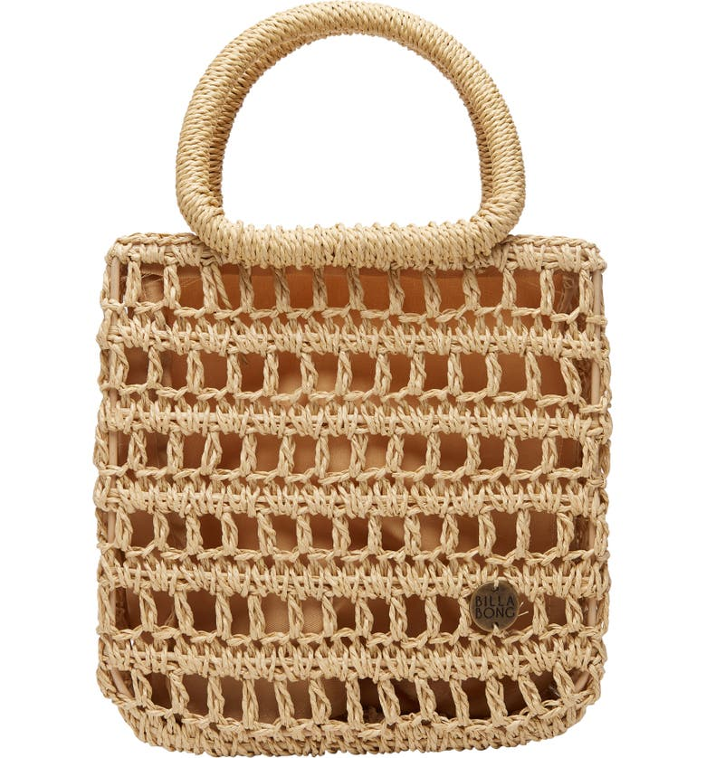 BILLABONG x Sincerely Jules So Clutch Straw Tote, Main, color, 260