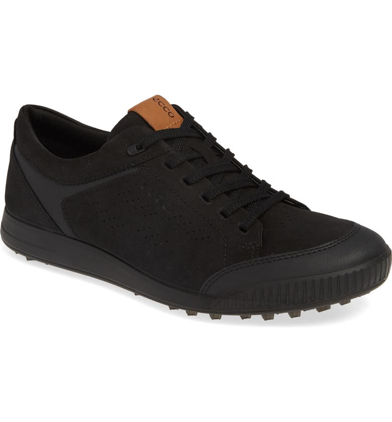 ECCO Street Retro LX Golf Shoe, Main, color, BLACK LEATHER