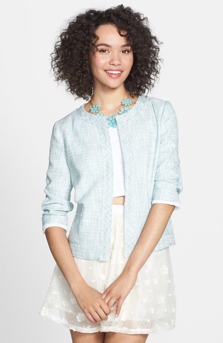 BCNU Frayed Tweed Jacket, Main, color, 400