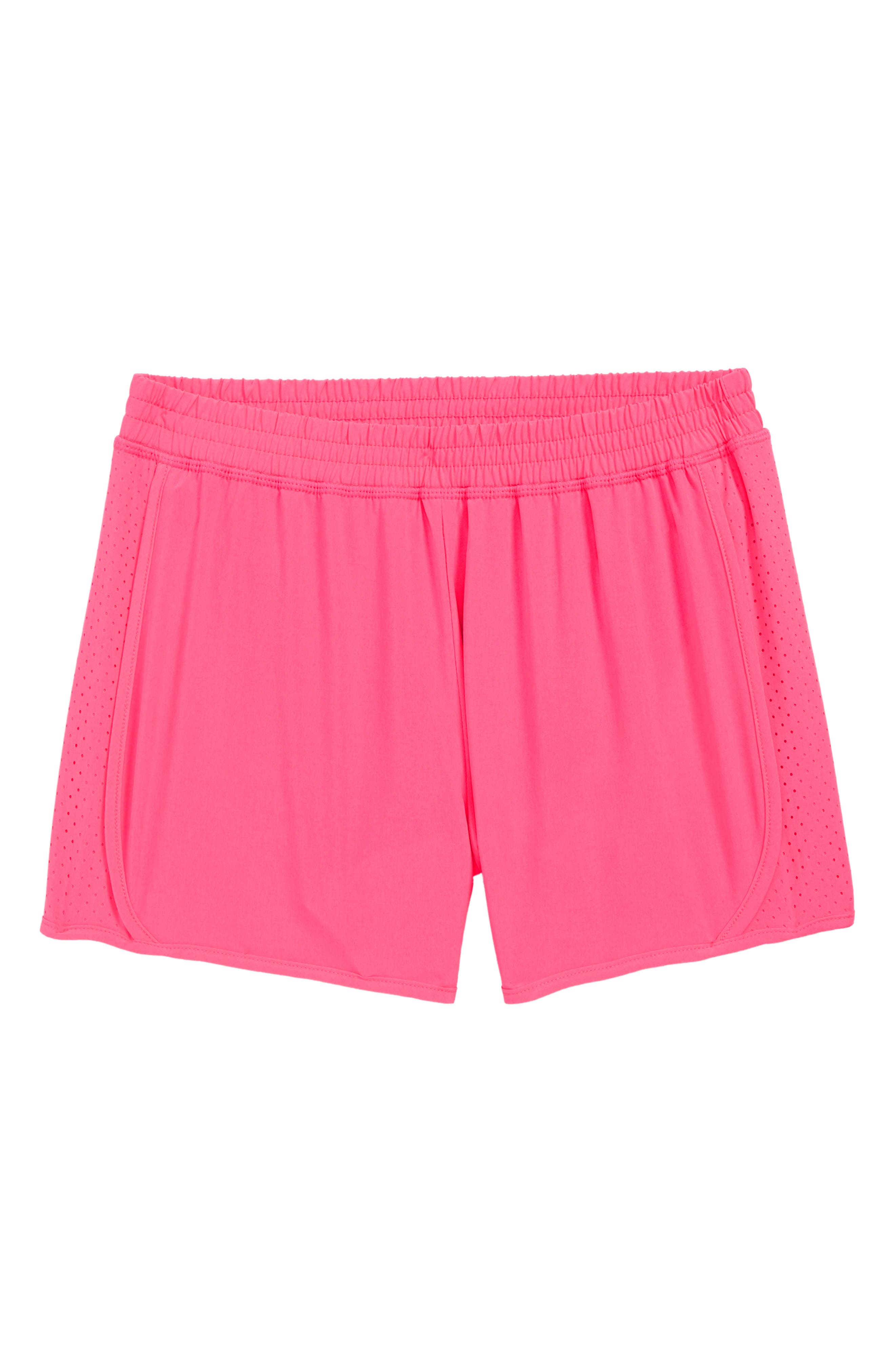 Active Running Shorts, Main, color, PINK KNOCKOUT