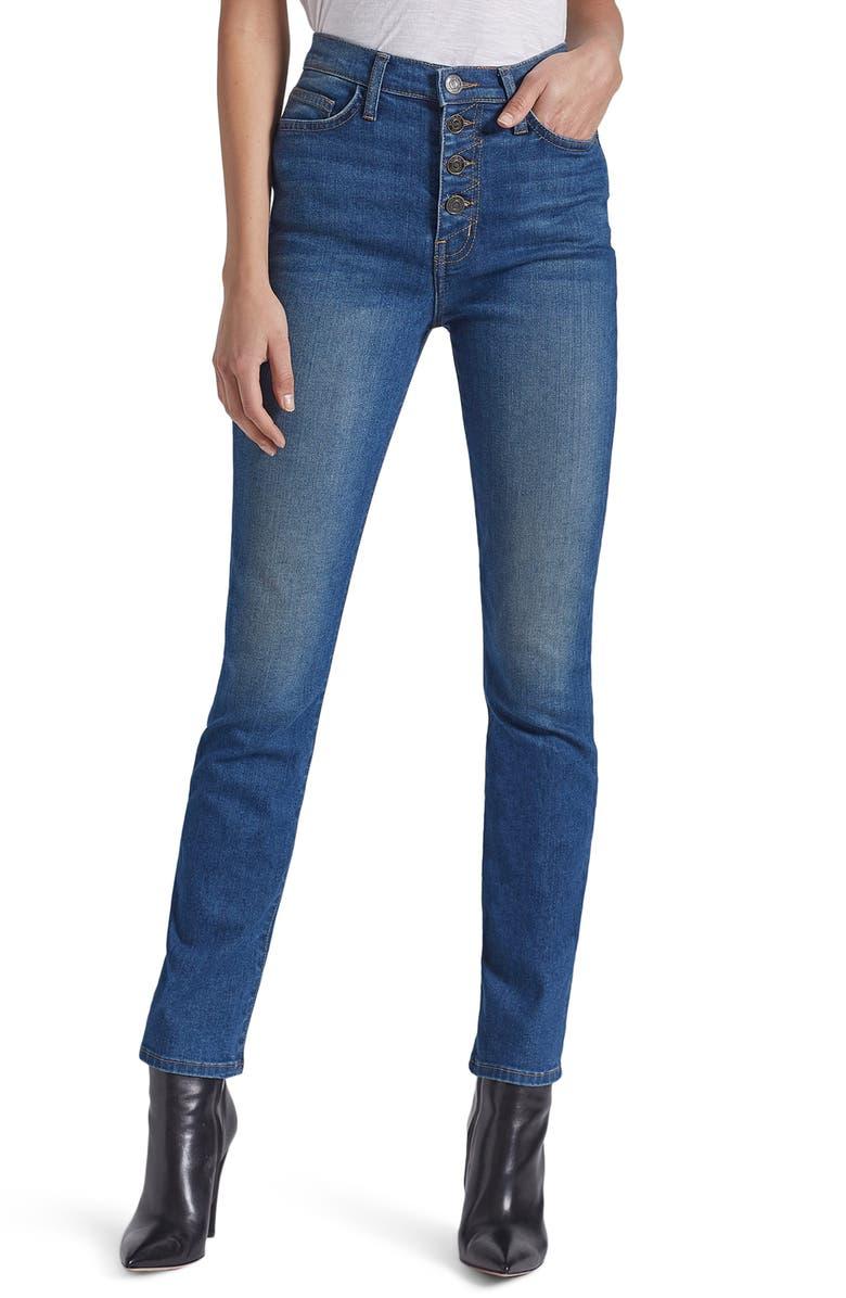 CURRENT/ELLIOTT The Zig-Zag Morris High Waist Skinny Jeans, Main, color, MINA