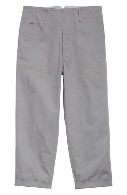 Marni Drill Pants In Grey