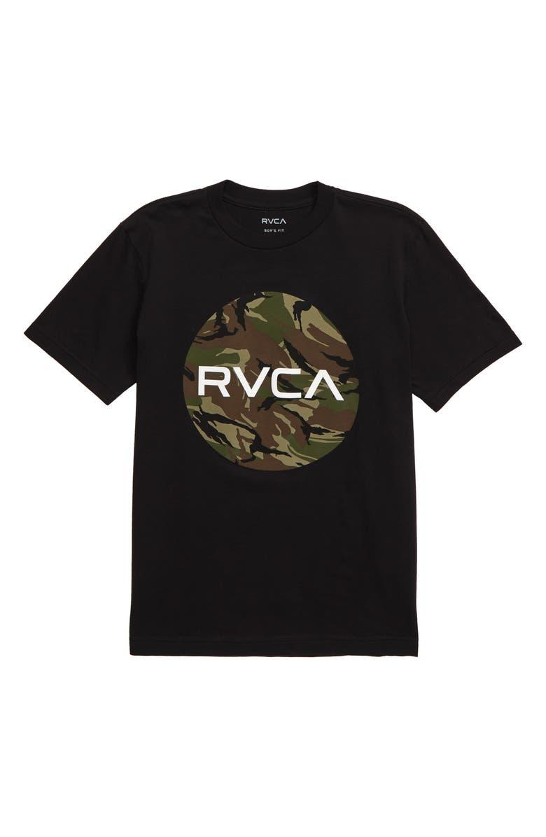RVCA Motor Fill Graphic T-Shirt, Main, color, BLACK