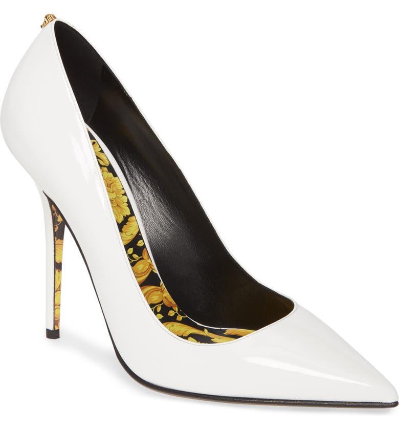 Versace Barocco Pointy Toe Pump Women