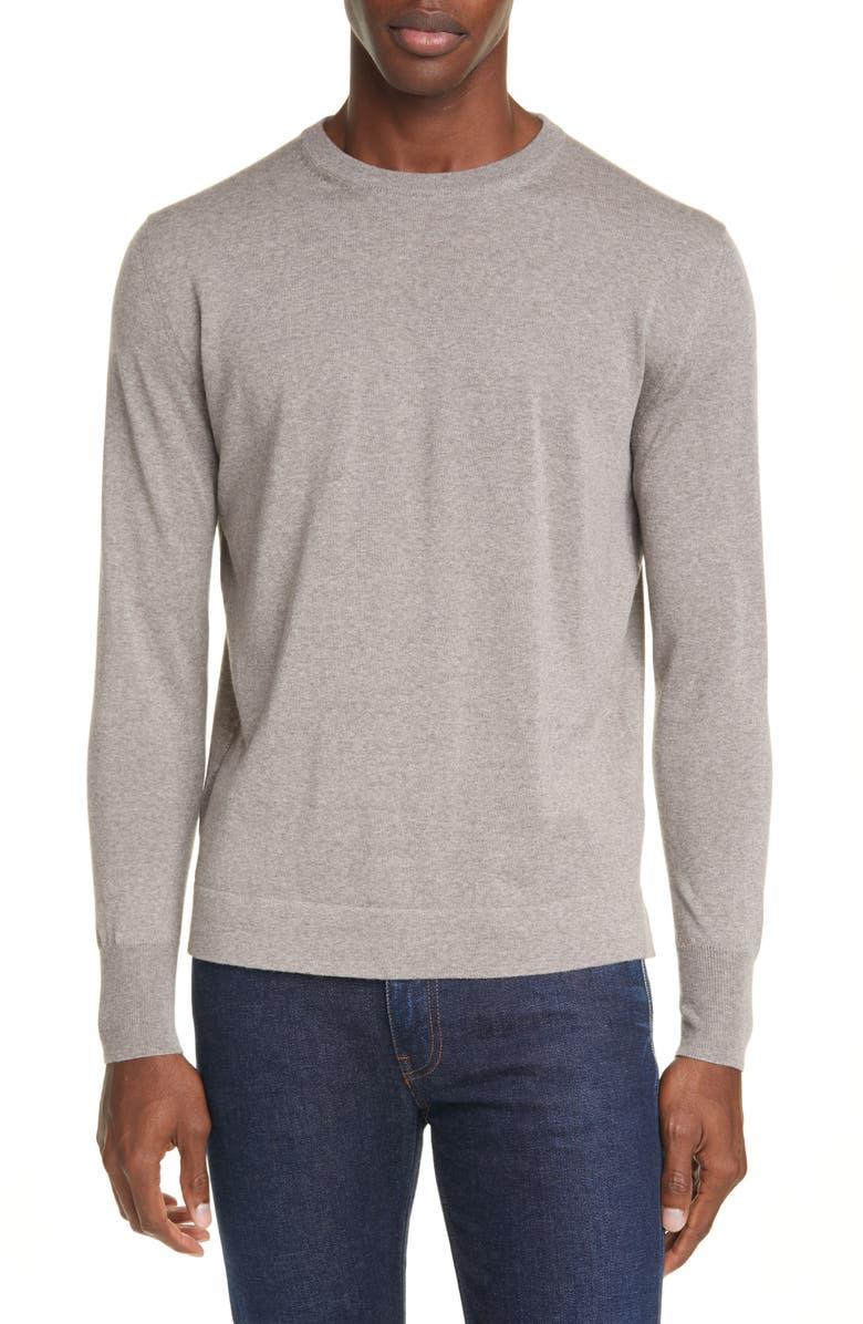 CANALI Crewneck Wool Sweater, Main, color, 230