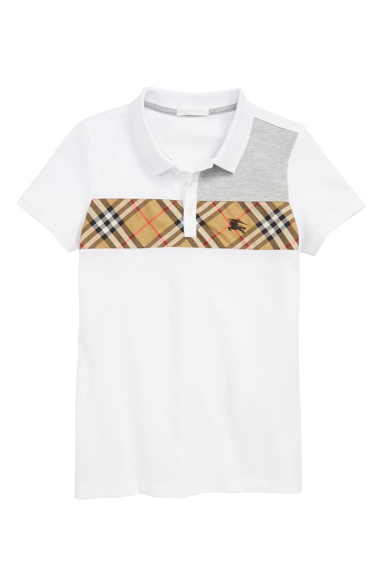 BURBERRY Jeff Polo, Main, color, WHITE