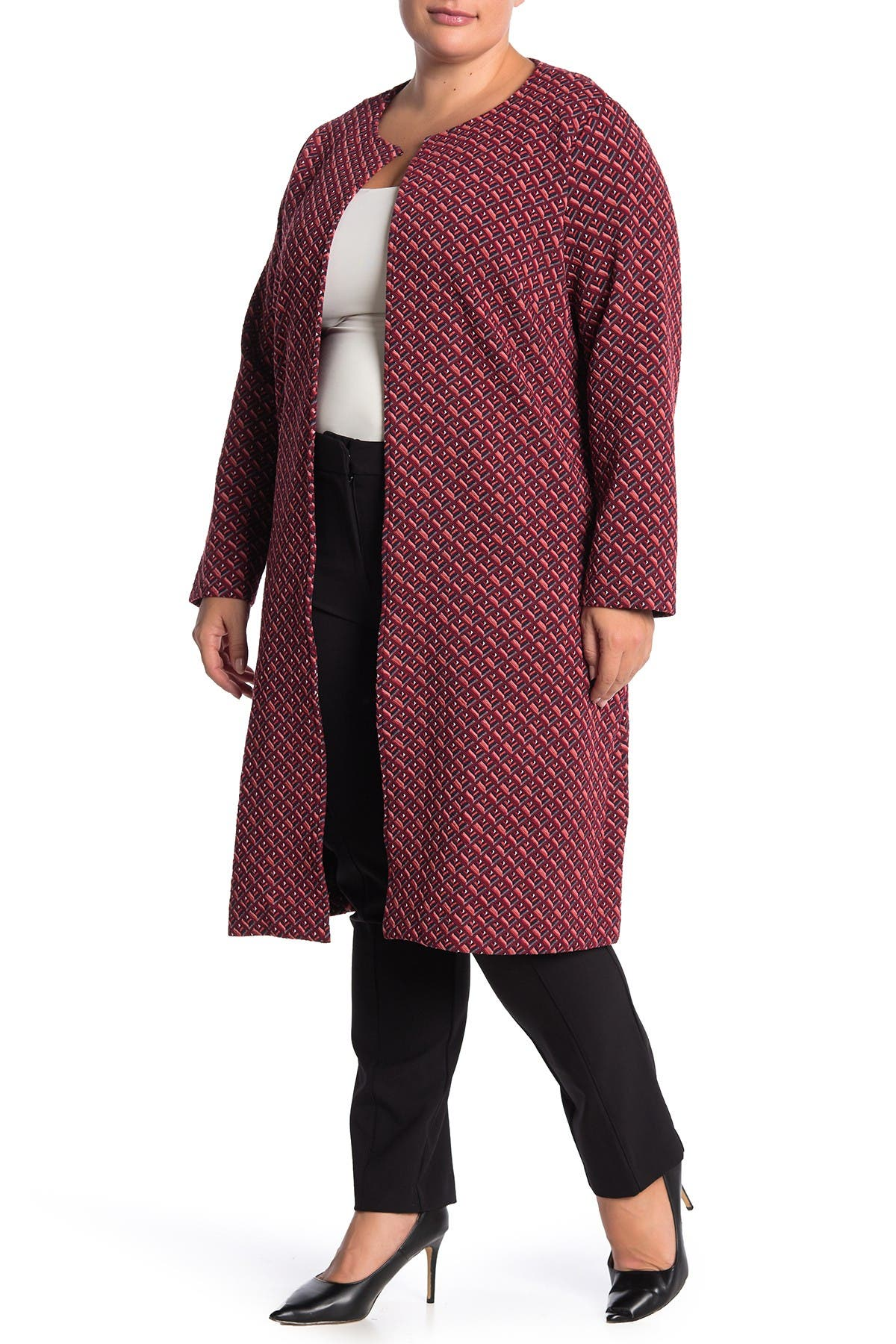 Image of Leota Cora Open Front Duster Jacket