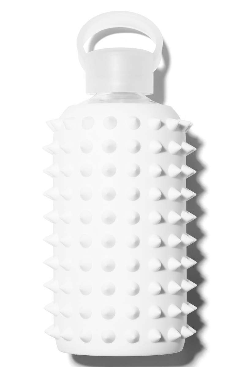 BKR <sup>®</sup> Spiked 16-Ounce Silicone Glass Water Bottle, Main, color, 100