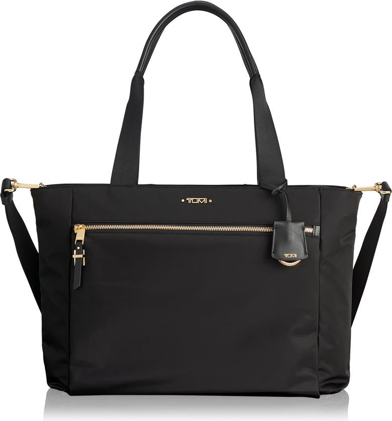 TUMI Voyageur Mauren Nylon Tote, Main, color, BLACK