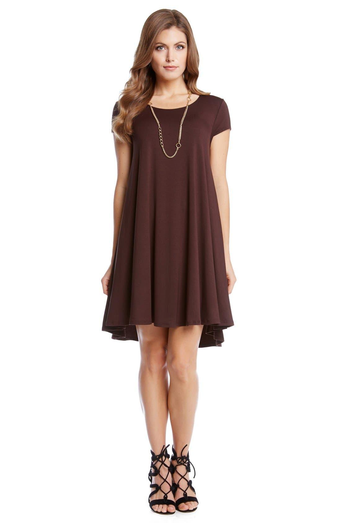 ,                             'Maggie' Cap Sleeve Trapeze Dress,                             Alternate thumbnail 8, color,                             201