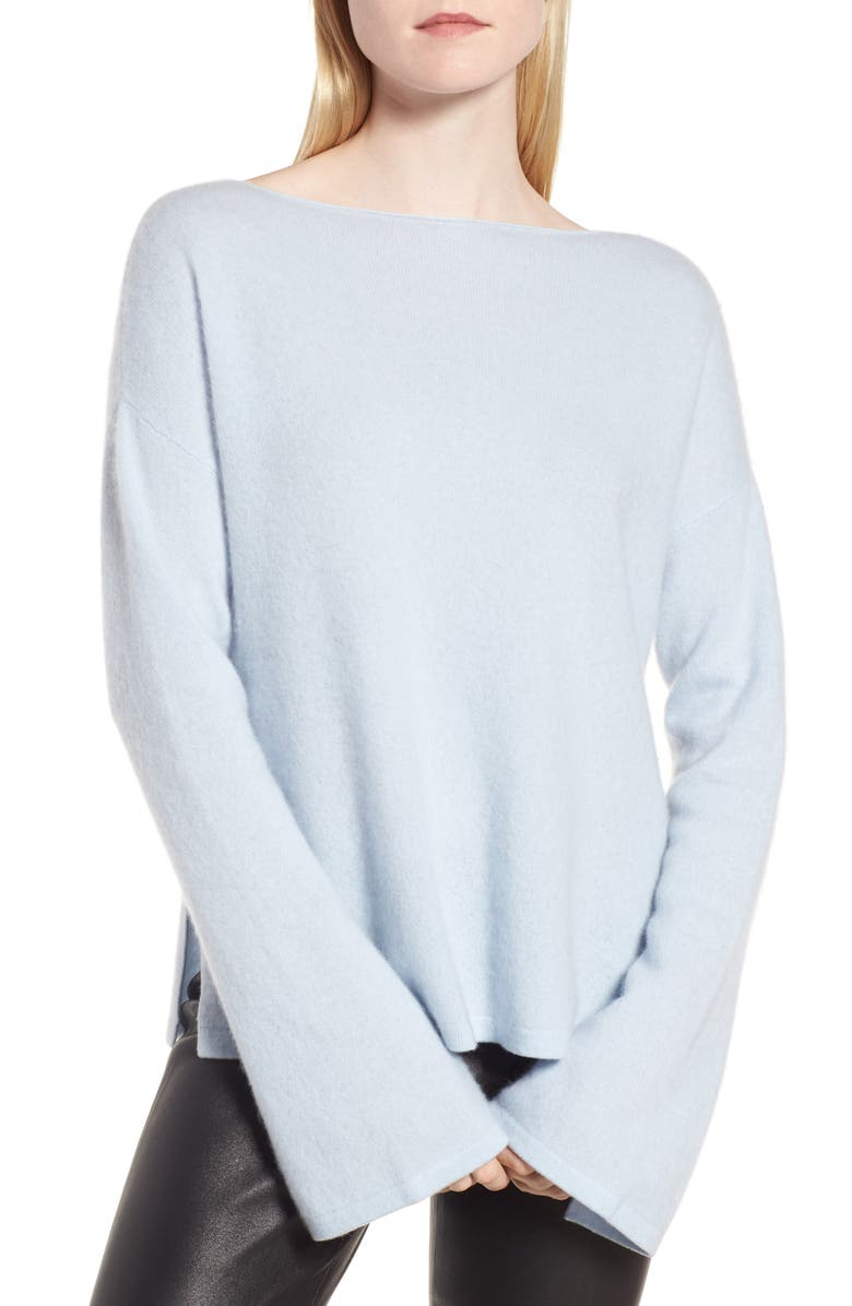 NORDSTROM SIGNATURE Boiled Cashmere Pullover, Main, color, 450