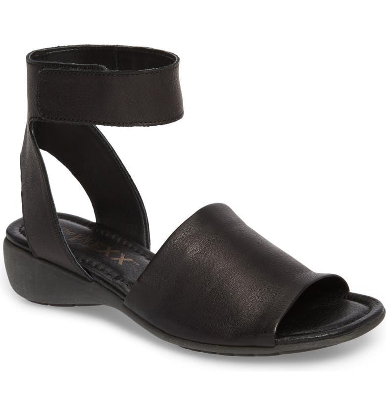 THE FLEXX 'Beglad' Leather Ankle Strap Sandal, Main, color, 002