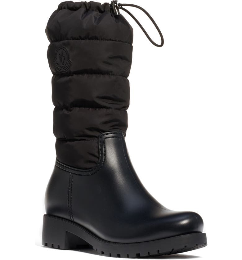 MONCLER Ginette Puffer Boot, Main, color, BLACK