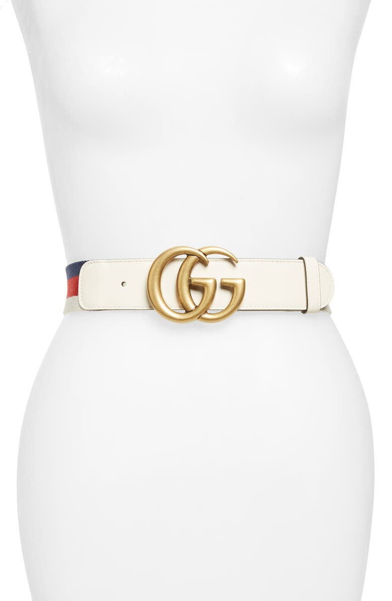 GUCCI Double-G Belt, Main, color, 187