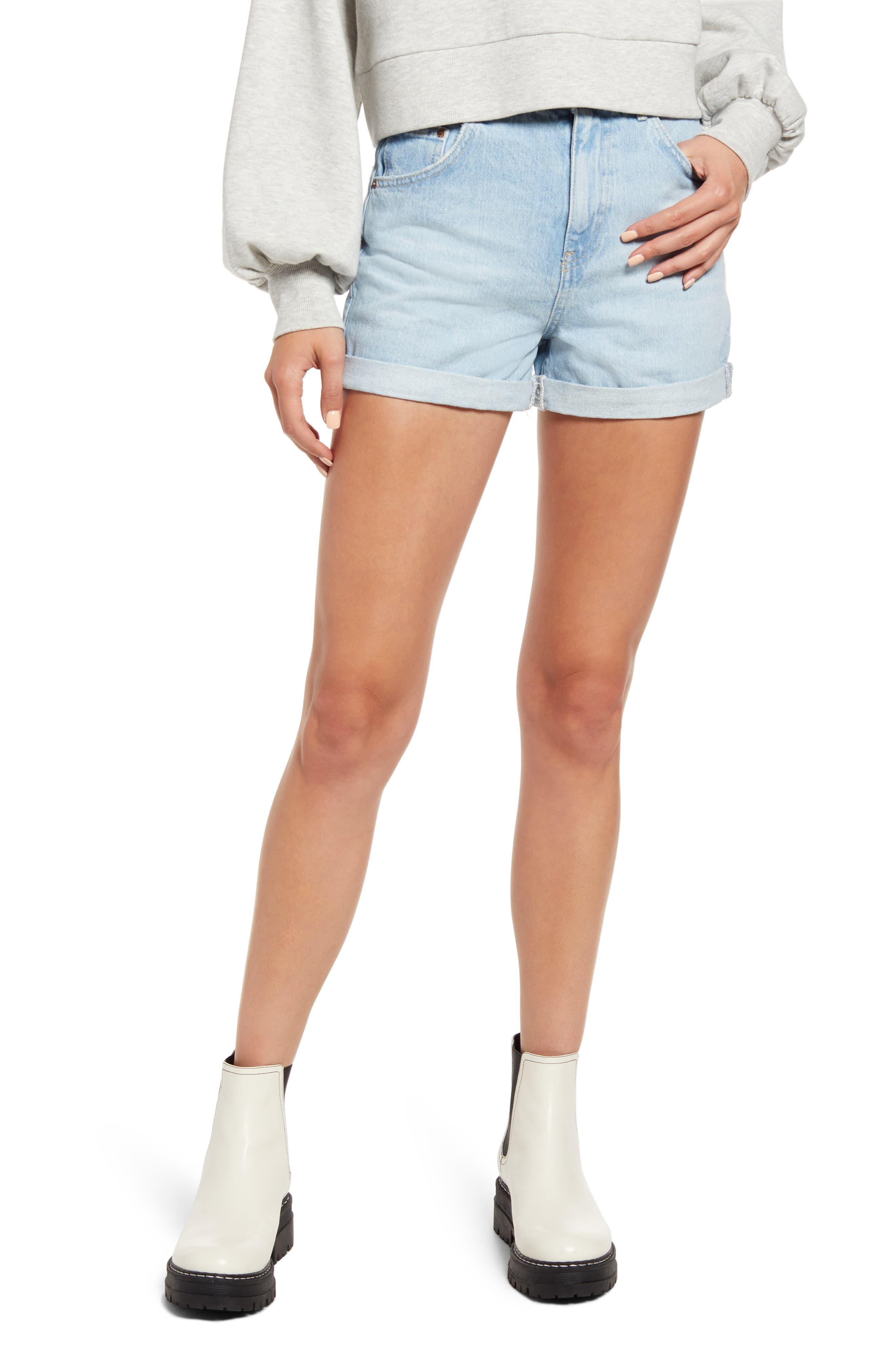 Roll Hem Mom Shorts