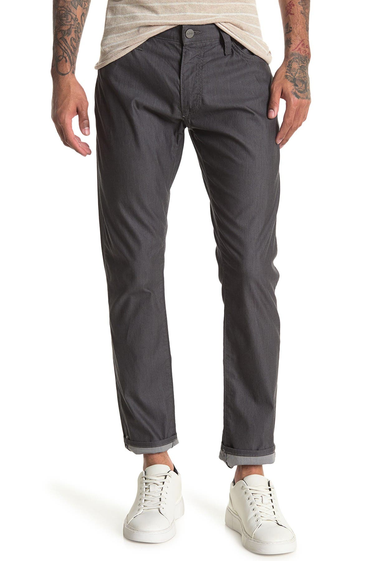 Image of 34 Heritage 34 Cool Anthracite Reversed Twill Pants