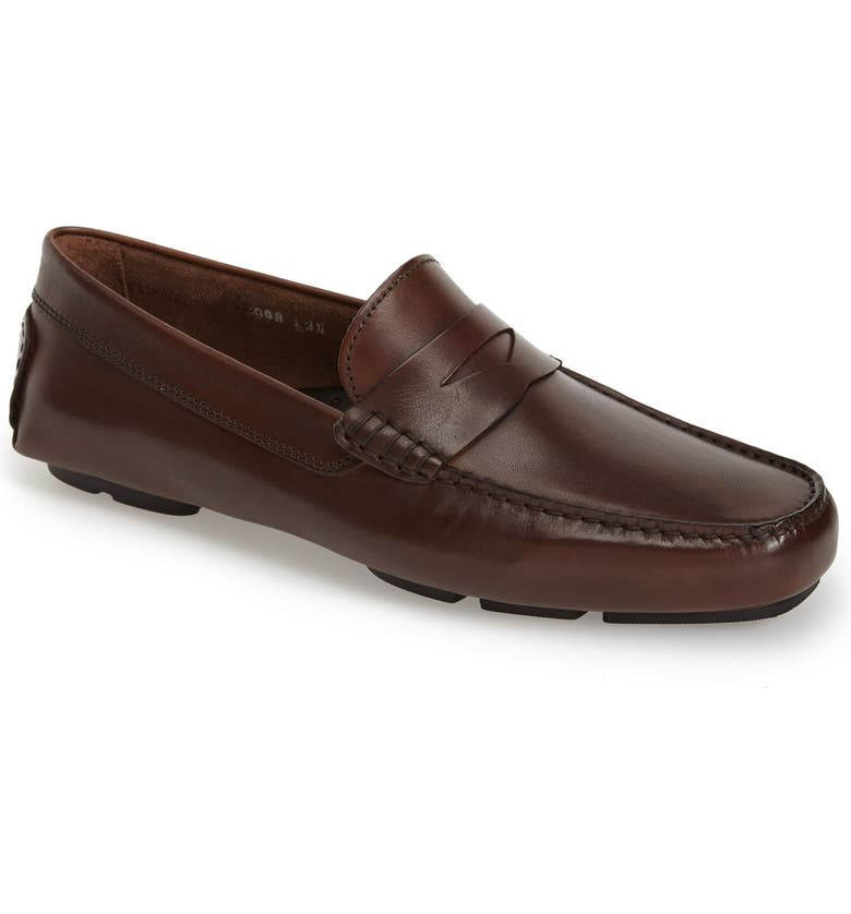 TO BOOT NEW YORK 'Harper' Driving Shoe, Main, color, BROWN CALFSKIN