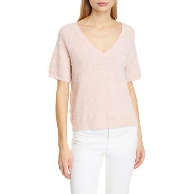 Joie Anoushka Short Sleeve Merino Wool Sweater, Pink