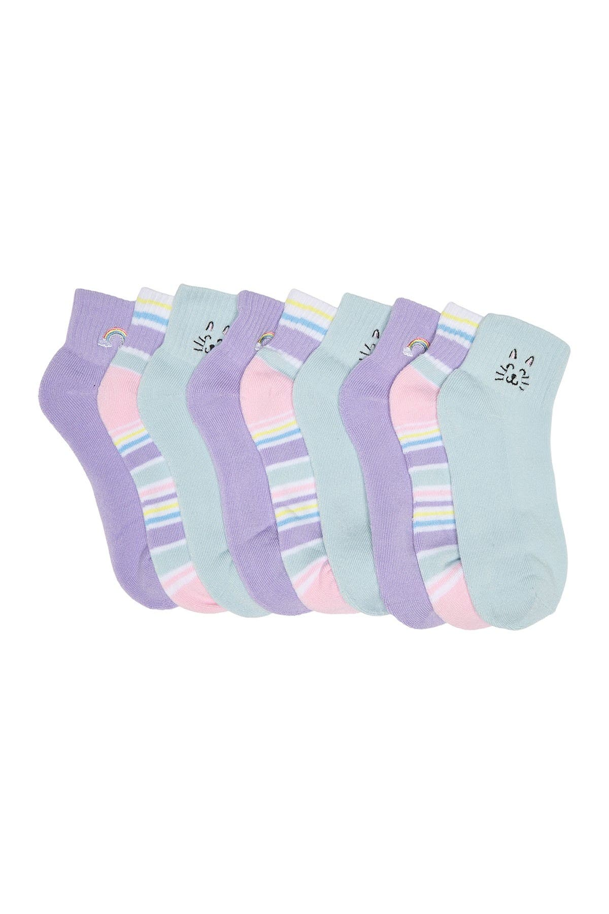Image of Abound Embroidered Ankle Socks - Pack of 3