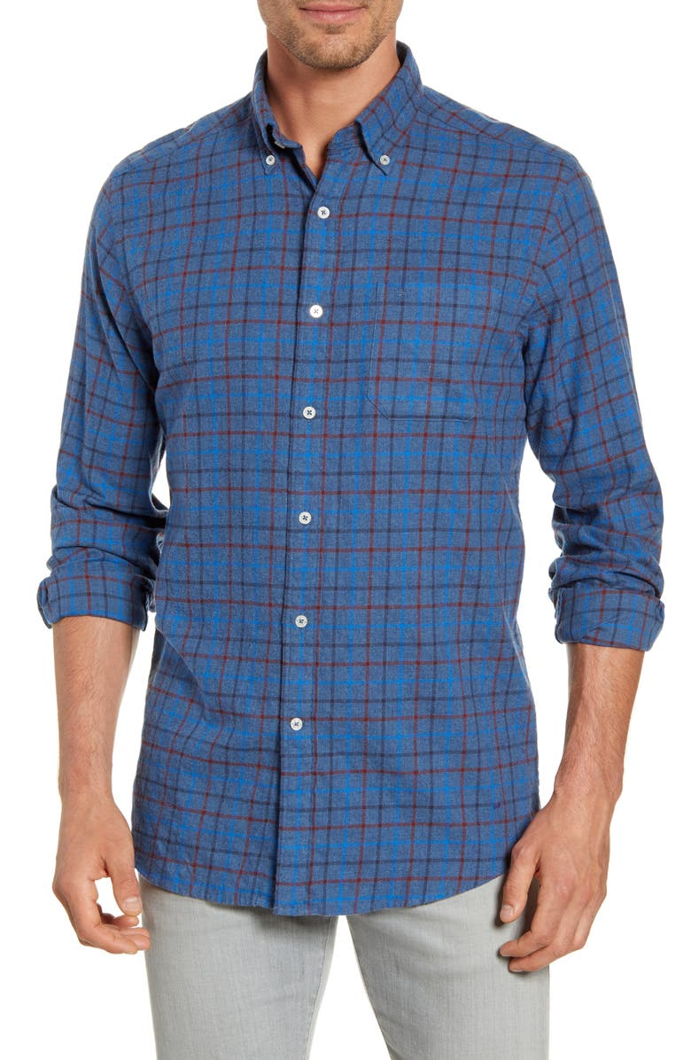 SOUTHERN TIDE Skysail Regular Fit Check Button-Down Shirt, Main, color, MADRAS BLUE