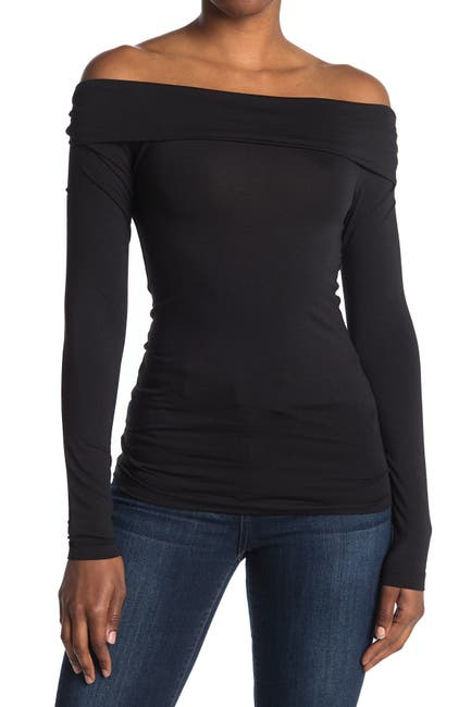 Image of VERO MODA Long Sleeve Off The Shoulder Top