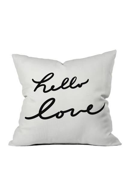 Image of Deny Designs Lisa Argyropoulos Hello Love On White Throw Pillow