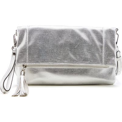Sole Society Convertible Faux Leather Clutch - Metallic