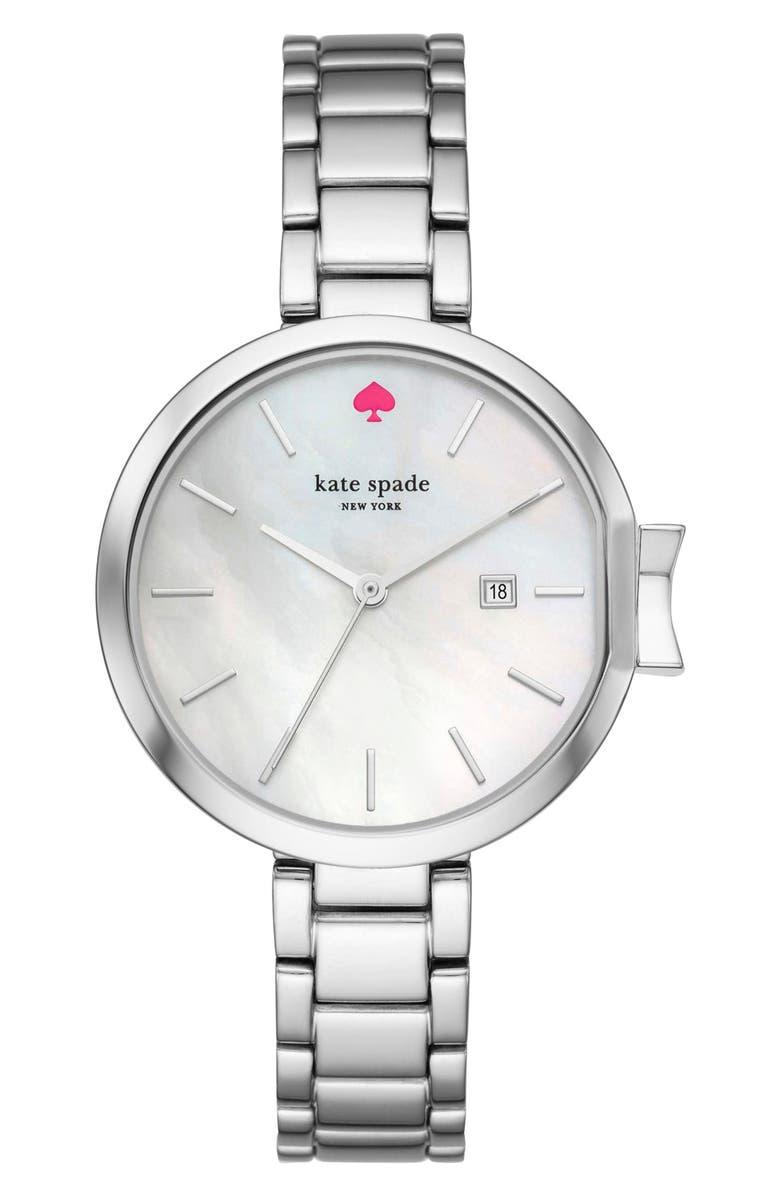 KATE SPADE NEW YORK park row bracelet watch, 34mm, Main, color, 040