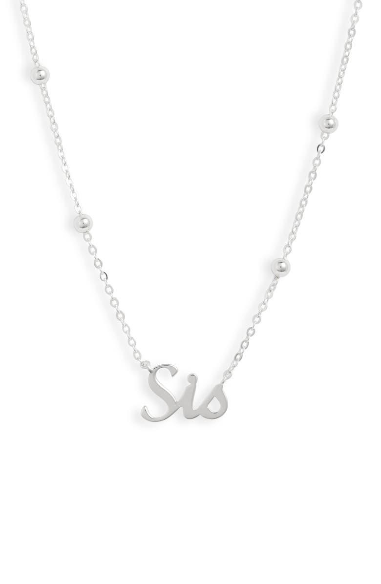 ARGENTO VIVO Sis Pendant Necklace, Main, color, 040