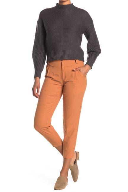Image of Elodie V-Waist Tapered Crop Pants