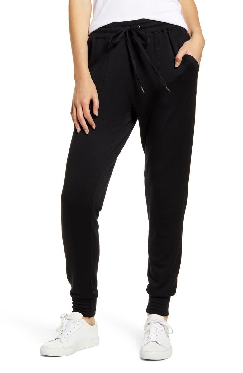 SPLENDID Jogger Pants, Main, color, BLACK
