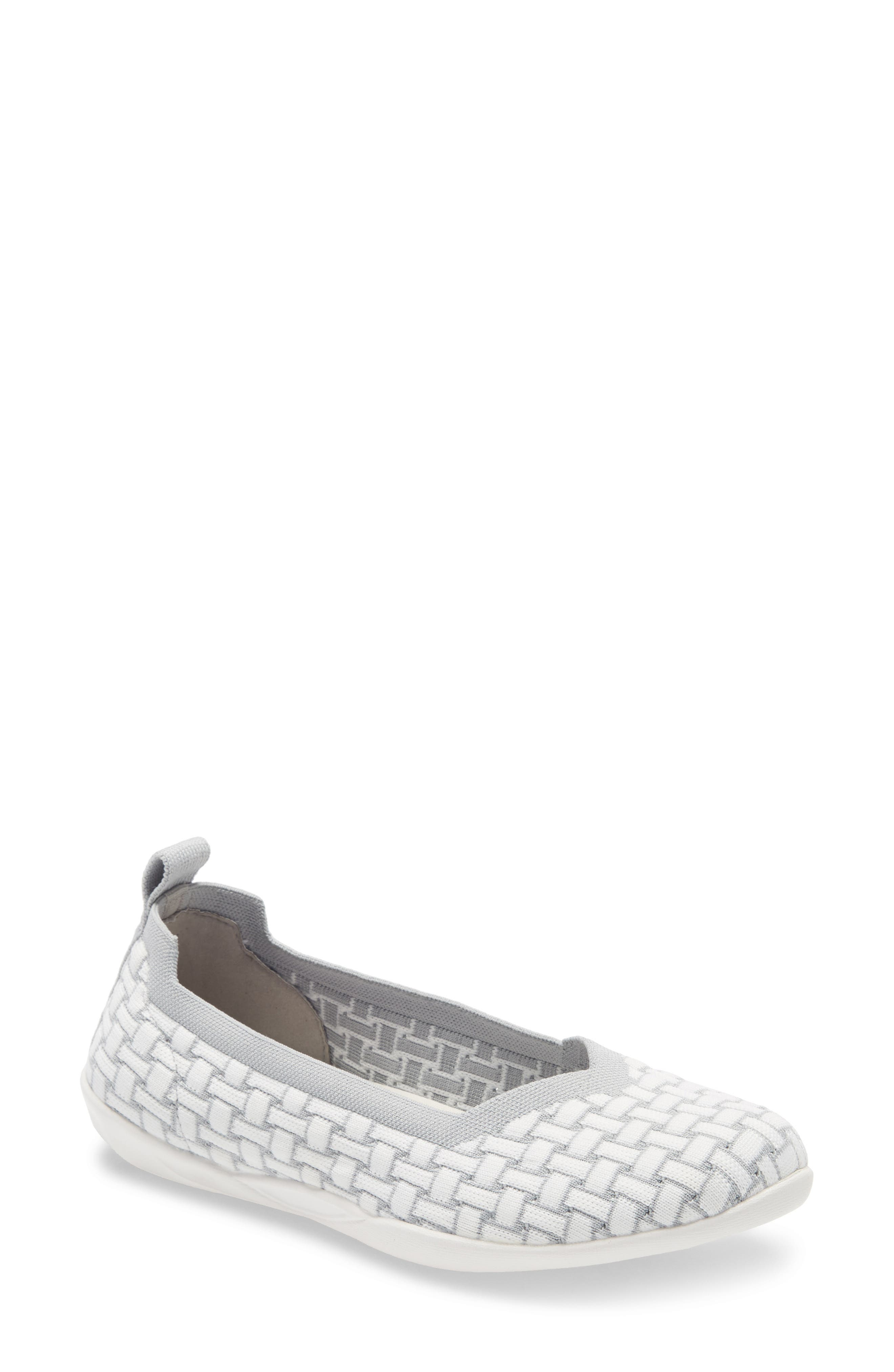 A stretchy woven upper fits like a dream on a lightweight, flexible flat with a cushy memory-foam footbed. Style Name: Bernie Mev. Catwalk Flat (Women). Style Number: 1009648. Available in stores.