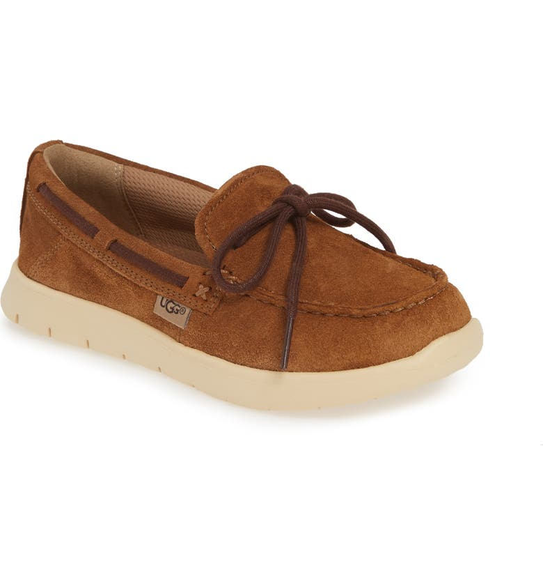 UGG<SUP>®</SUP> Beach Slip-On Moccasin, Main, color, CHESTNUT