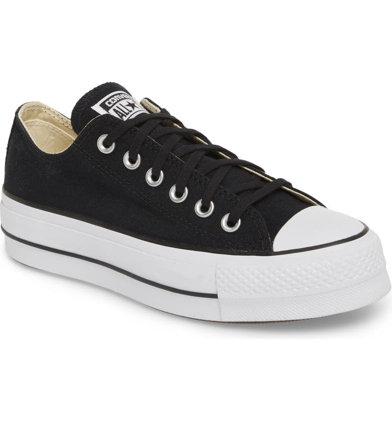 CONVERSE Chuck Taylor<sup>®</sup> All Star<sup>®</sup> Platform Sneaker, Main, color, BLACK/ WHITE/ WHITE/ WHITE