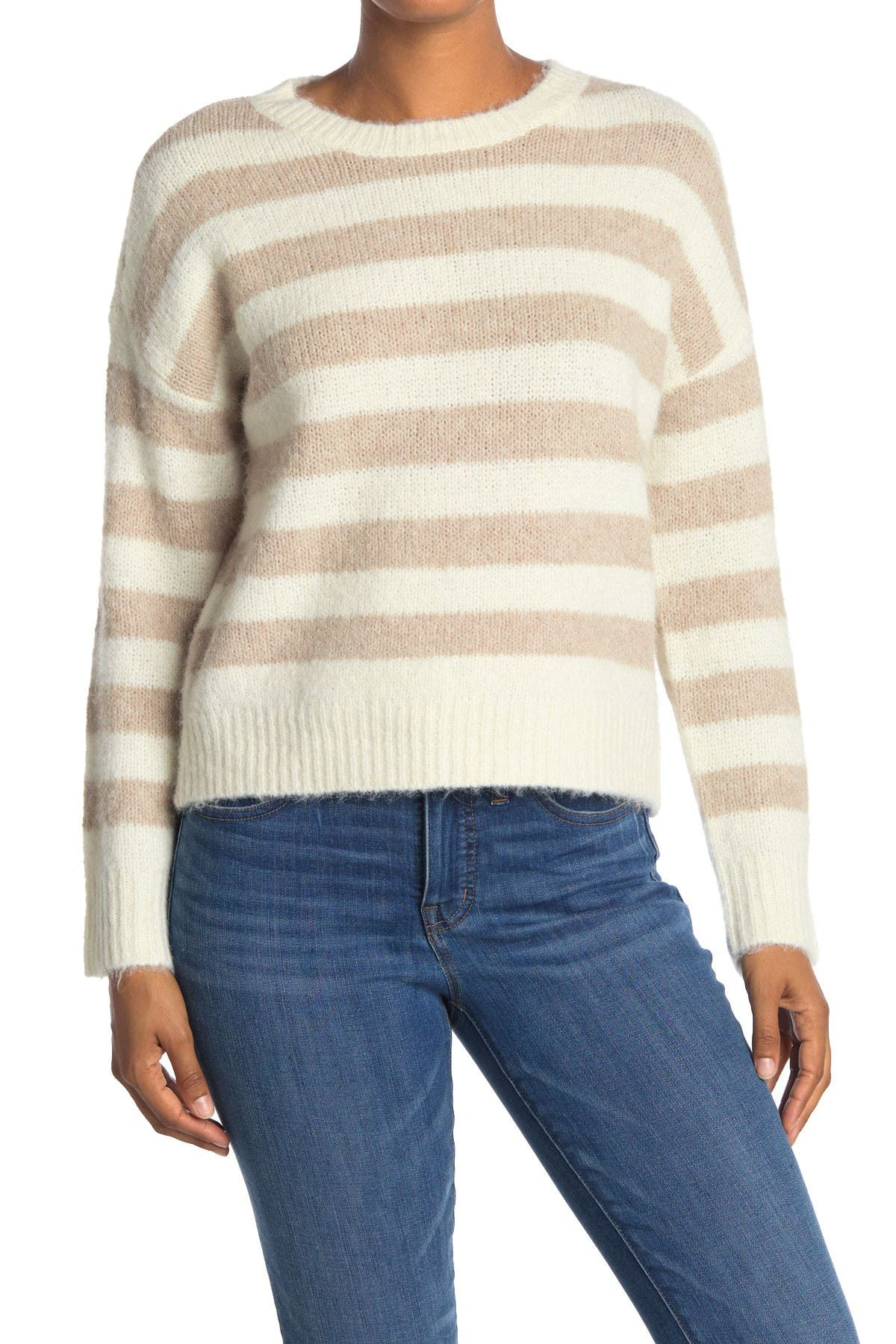 Image of THREAD AND SUPPLY Stripe Print Pullover Sweater