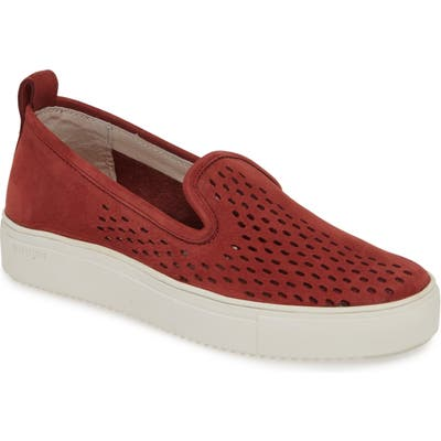 Blackstone Rl68 Perforated Slip-On Sneaker, Burgundy