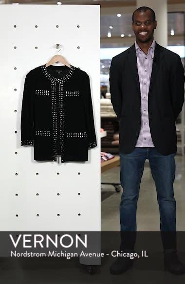 Studded Knit Jacket, sales video thumbnail