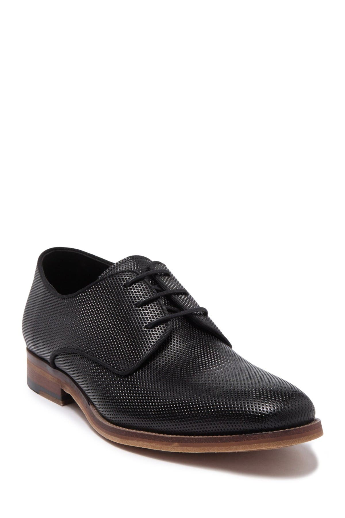 Image of Karl Lagerfeld Paris Embossed Leather Plain Toe Derby